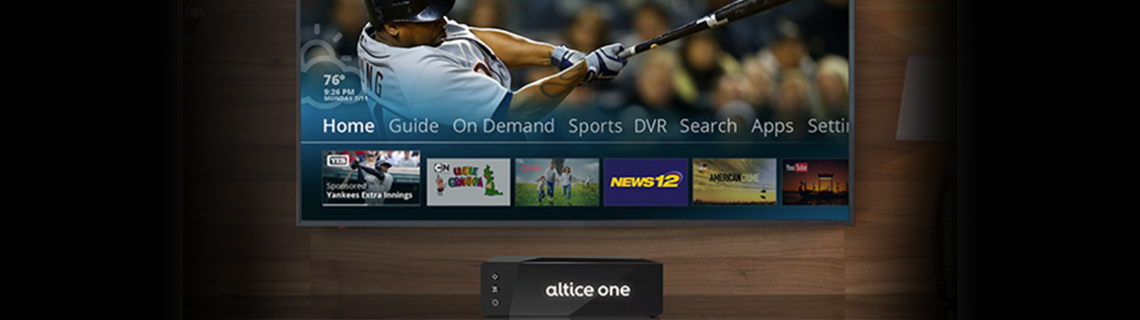 Altice USA Debuts New Sports Hub, Enhanced Home Screen, and