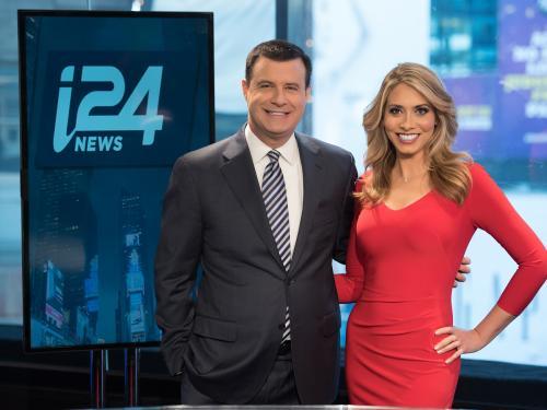 David Shuster and Michelle Makori of i24NEWS